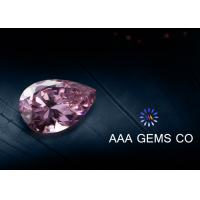 Wholesale Pear Cut Pink Colored Moissanite Loose Stones Middle Size 5mm x 7mm from china suppliers
