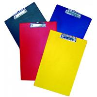 Wholesale Colorful A4 Plastic PVC Clip Board With Metal Clip For Office / Restaurant from china suppliers