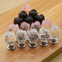 Wholesale Flower Style Crystal Door Knobs Drawer Pulls Furniture Handles from china suppliers