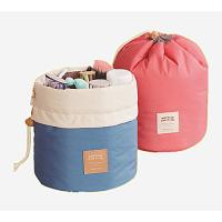 Wholesale Pink Blue Nylon Ladies Cosmetic Bags , Bucket Shaped Travel Wash Bags from china suppliers