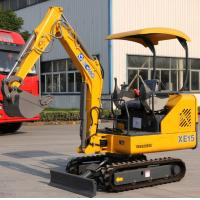 Wholesale Strong Power Crawler Hydraulic Excavator 1.5 Tons Digger AC Driving Cab from china suppliers