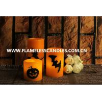 Wholesale Custom Orange Wax Halloween LED Candles Flameless for Halloween Decoration Products from china suppliers