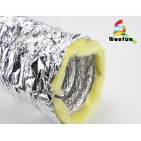 Wholesale Silver Aluminium HVAC Duct Insulation Wrap , Fire Retardant Insulated Exhaust Duct from china suppliers