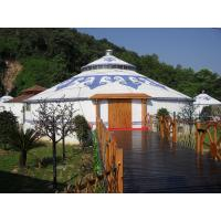 Wholesale Tourist Camping Party Mongolian Yurt Tent With Attractive Bamboo Frame PVC Covered from china suppliers