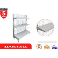 Wholesale Single Sided Gondola Shelving With Mesh Grid Back Panel For Pharmacy Store from china suppliers