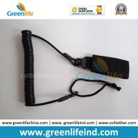 Wholesale Wire Core Elastic Lanyard Secure Pistol Dropping W/Black Belt Velcro from china suppliers