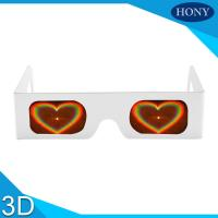 Wholesale Heart Effect custom paper diffraction glasses / rainbow 3d glasses , Fireworks Eyewear from china suppliers