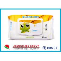 Quality Disposable Baby Care Wet Wipes Weakly Acidic Unscented Biodegradable With Flip Top for sale