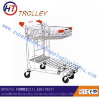 Wholesale Supermarket Iron Grocery Store Shopping Carts Trolley Folding Type from china suppliers