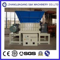 Wholesale Rubber Tire Waste Recycling Equipment Double Shaft Shredder CE / ISO from china suppliers