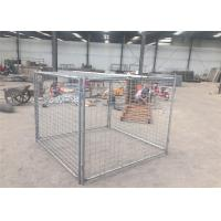 Wholesale High Strengh Temporary Rubbish Cage , Hot Dipped Galvanized Waste Cage from china suppliers