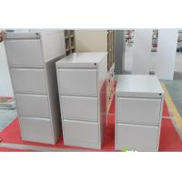 Quality 4 drawer filing cabinet steel roll cold sheet material light grey color,H1330XW452XD620mm for sale