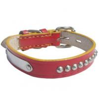 Wholesale adjustable cow leather pet collar from china suppliers