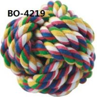 Quality X'mas Gift For Pet Rope Knot Ball Dog Toys Washable Eco-friendly for sale