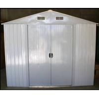 Wholesale Prefab White Apex Sliding Metal Shed , Easy Kit Gable Roof Garden Shed from china suppliers