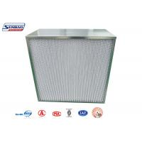 Wholesale H10 H11 H12 H13 Industrial Laboratory Panel Pleated Air Hepa Filters from china suppliers