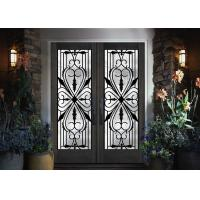 Buy cheap Traditional Custom Spray Coating Wrought Iron Glass With Hot Dipfabricated from wholesalers