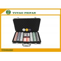 Wholesale Black Case 300 Piece Poker Set Includes Laser Las Vegas Poker Chips from china suppliers
