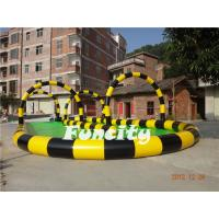 Wholesale 0.6mm PVC Tarpaulin Colorful Inflatable Zorb Track for Grassland Inflatable Sports Games from china suppliers