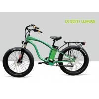 "Wholesale 9 Speed 26"" X 4.9 Tire Electric Beach Cruiser Bicycle With Rear Carrier Lights MTB Suspension Fork from china suppliers"