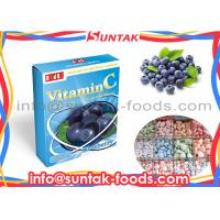 Wholesale Blue Berry Flavor Sugar Free Chewy Candy , Chewable Vitamin C For Kids / Adults from china suppliers