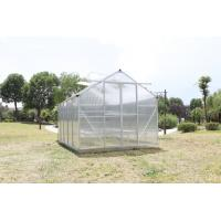 Wholesale Double Sliding Door , Waterproof Hobby Greenhouse Kits With 1.5mm Aluminum Frame from china suppliers