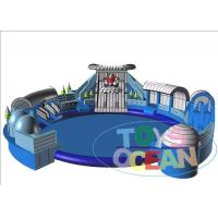 Wholesale Blue Inflatable Floating Water Park For Kid / Commercial Inflatable Amusement Park from china suppliers