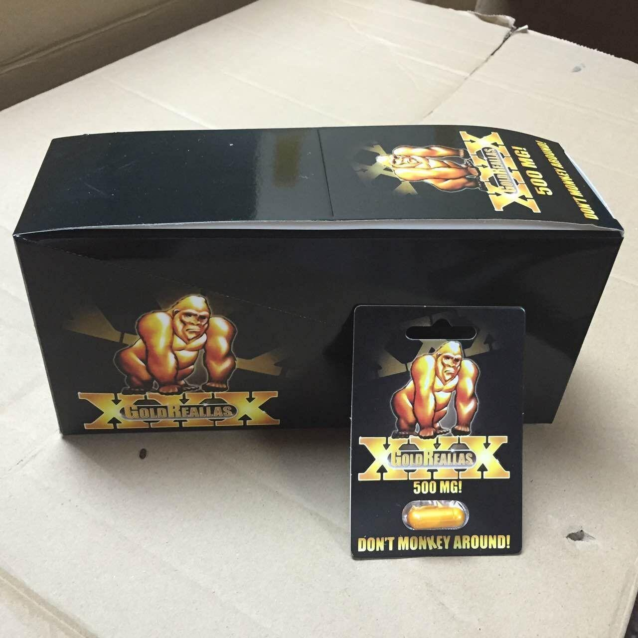 Wholesale Gold Reallas XXX Tablet Herbal Male Enhancement 24caps / box Specification GMP & FDA from china suppliers