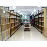 Wholesale Metal Frame Wood Board Light Duty Shelving / Display Racks For Grocery Stores from china suppliers