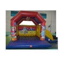 Wholesale Fire Retardant Inflatable Combo , Square Inflatable Castle Bounce House With Slide from china suppliers