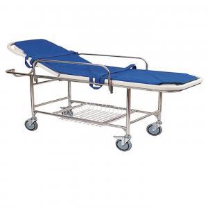 China Medical Emergency Stretcher Trolley / Ambulance Stretcher Folding Cart on sale