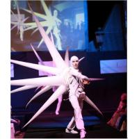 Wholesale 2m White Perform Cloth Wearable Moving Inflatable Wing For Stage from china suppliers