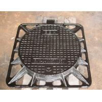 Wholesale Iron casting manhole covers, square outside, round inside from china suppliers