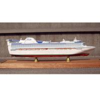 Wholesale Scale 1:900 Fine Princess Cruise Ship Models , Container Ship Model With ABS Hand Carving from china suppliers