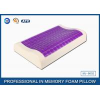 Wholesale Small Ice Cooling Gel Contour Visco - Elastic Memory Foam Pillow Covered Bamboo Pillowcase from china suppliers