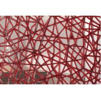 Buy cheap Red Net Decorative Laminated Glass Panels / Glass Partition , Handpainted from wholesalers