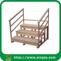 Wholesale Three layers wooden step with handrail from china suppliers