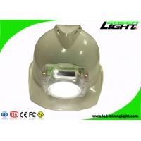 Buy cheap Cordless Led Mining Cap Lights , PC Plastic IP68 Miners Hard Hat Lamp for Safety Underground Mine Work from wholesalers