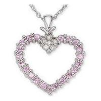 Wholesale Pink Sapphire & Diamond Pendant from china suppliers