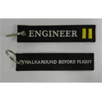 Wholesale Engineer Walkaround Before Flight Pilot Keychain Embroidery Keychain from china suppliers