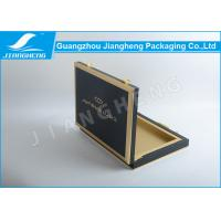 Wholesale Attractive Style MDF Wooden Black Luxury Tea Box / Gift Boxes With Golden Logo from china suppliers
