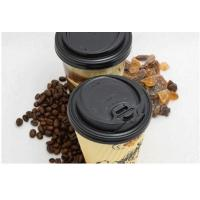Wholesale PS Black Paper Disposable Cups With Lids , 85mm Coffee Cup Lids from china suppliers