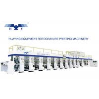 Quality PLC Controller 10 Colors Rotogravure Printing Machine With Mechanical Shaft Or Shaftless for sale
