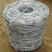 Wholesale Electro-galvanized Barbed Wire with Plain/Twisted for Road Steel Fencing, with 3 to 6-inch Distance from china suppliers
