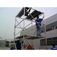 Wholesale Indoor and Outdoor Light Weight Scaffold Platform , Cold Pressed Ladder Scaffolding from china suppliers