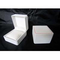 Wholesale Personalized Plastic Watch Boxes Handmade , High End Watch Box White Color from china suppliers