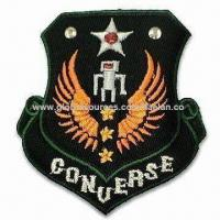 Wholesale Embroidered Emblem/Badge, Various Materials are Available, Customized Designs and Sizes are Accepted from china suppliers