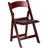 Buy cheap mahogany padded resin folding chair for outdoor wedding foldable chairs from directly factory supply from wholesalers