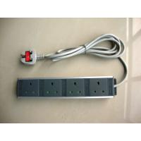 Wholesale Black UK 4 Socket Electrical Extension Cord , Rack Mount Power Distribution Unit from china suppliers