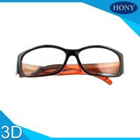 Quality Reald  PC Plastic Circular Polarized 3D Glasses For 3D Movies for sale